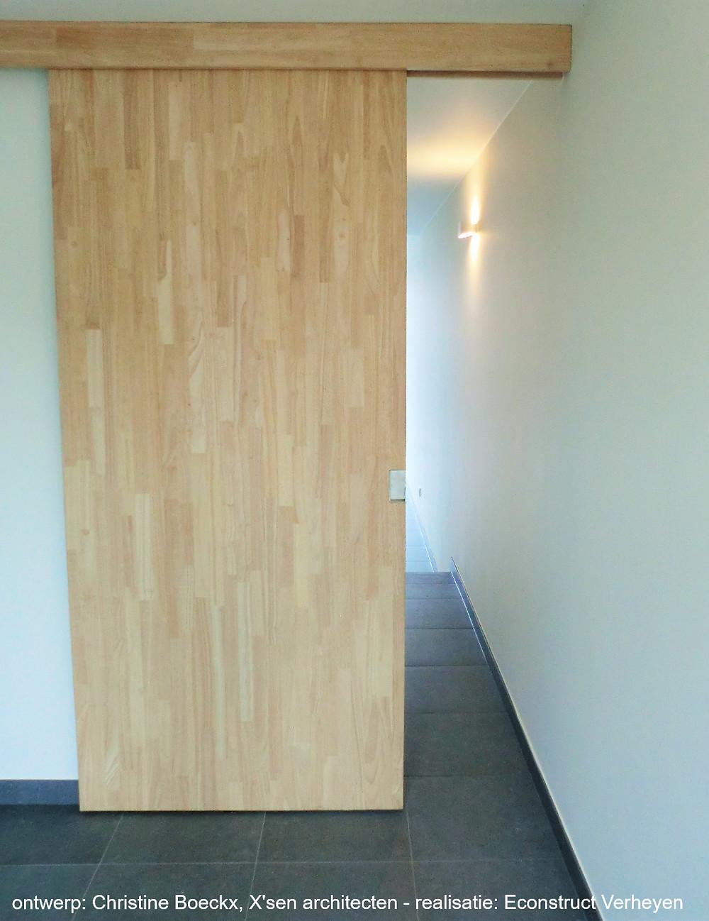 rubberwood binnendeur - bron: Econstruct Verheyen