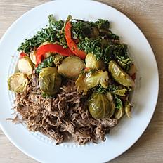 Braised Beef & Sweet Potato Vegetable Hash