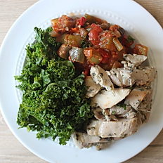 Oregano Chicken w/Ratatouille & Kale