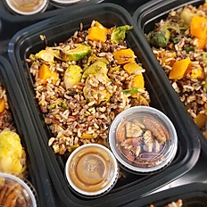 Wild Rice, Butternut Squash, & Brussels Sprouts Salad (Vegan)