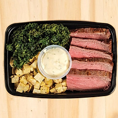 Steak w/Broccoli, Herb Mash Potato & Ranch