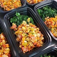 Rustic Bean Stew w/Sautéed Kale (Vegan)