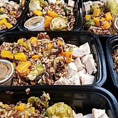 Wild Rice, Butternut Squash & Brussels Sprouts Chicken Salad