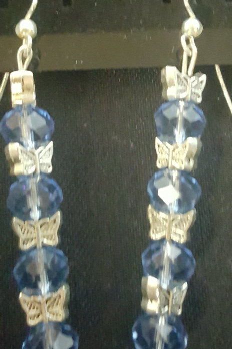 Blue Passion Butterfly Earrings