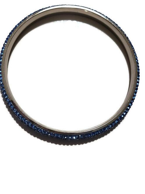 Blue Swarovski  Stainless Steel Bangle Bracelet