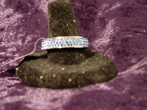 Stainless Blue Crystal Ring
