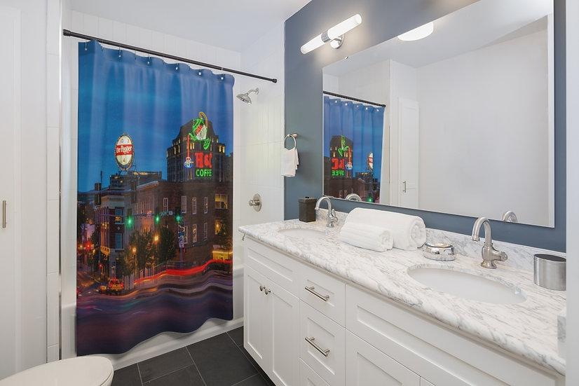 Big City Bright Lights Shower Curtains