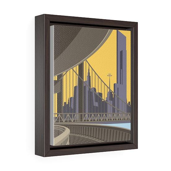 Future Deco Vertical Framed Premium Gallery Wrap Canvas