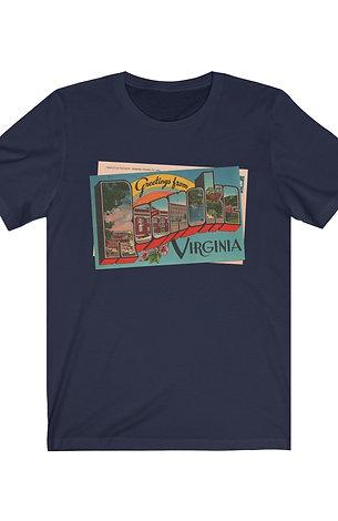 Greetings from Roanoke! Unisex Jersey Short Sleeve Tee