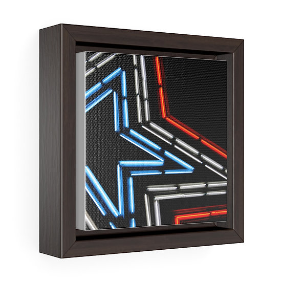 Star City Square Framed Premium Gallery Wrap Canvas