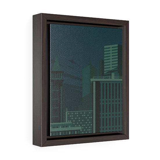 City SleepingVertical Framed Premium Gallery Wrap Canvas