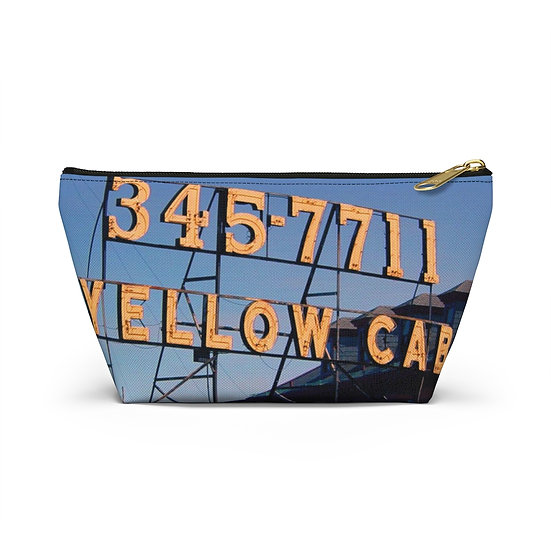 Yellow Cab Accessory Pouch w T-bottom