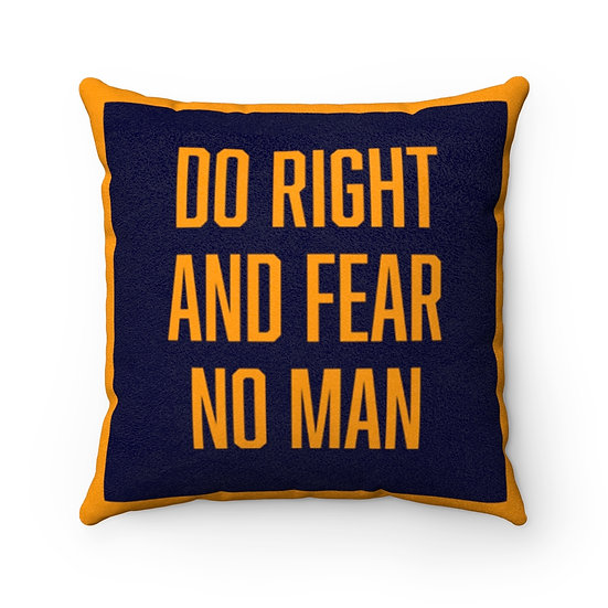 Do Right Faux Suede Square Pillow Case