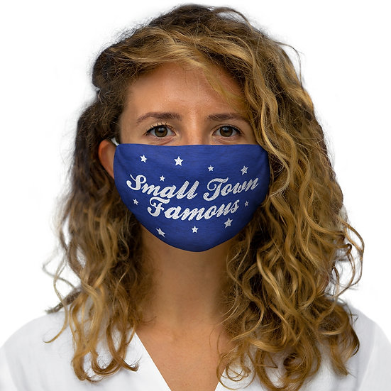 Small Town Famous Snug-Fit Polyester Face Mask