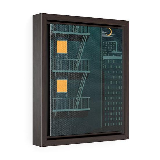 Blue Escape Vertical Framed Premium Gallery Wrap Canvas