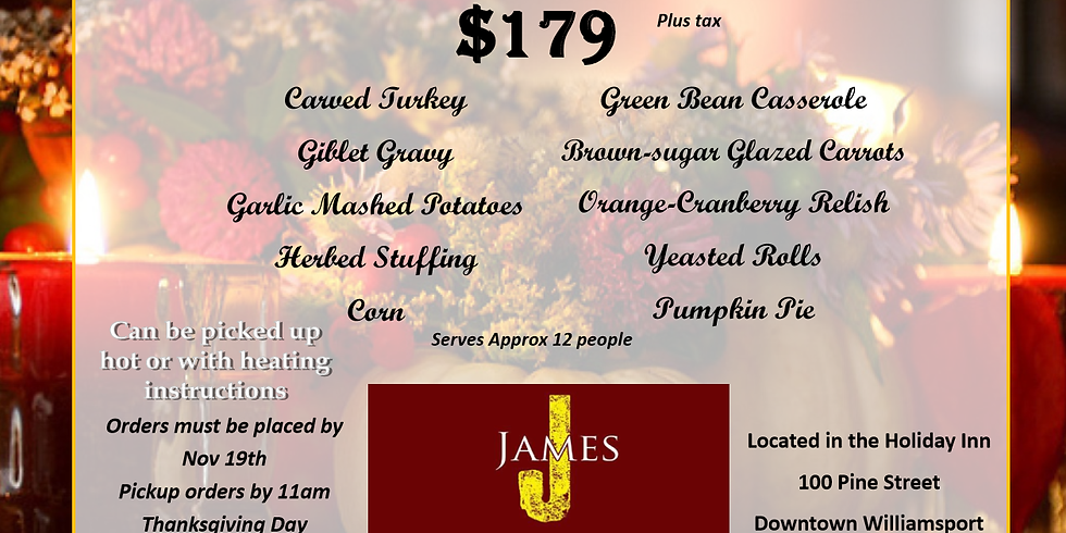 Let Us Cater Your Thanksgiving