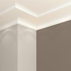 Cornice di gesso a soffitto