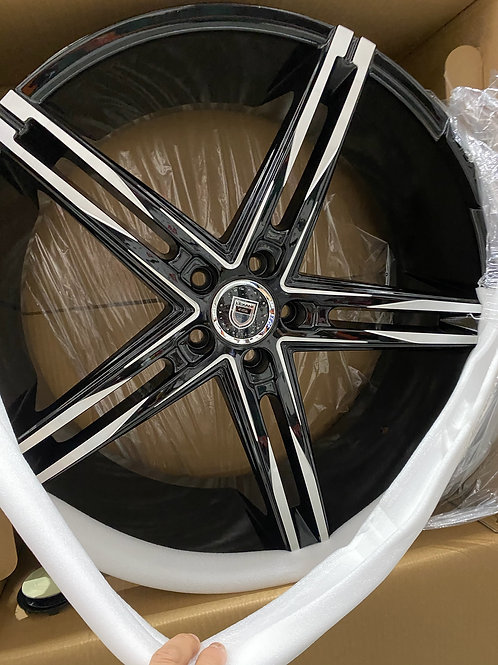 """2"""" Staggered lexani. Wheel & Lexani Tire Package in . Package consists of 22x9"""