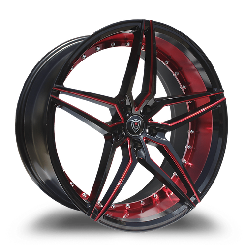 22x9 & 22X10.5 Polaris Slingshot Slingshot red/black Marquee wheel and 305 tire