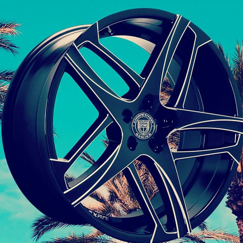 "22"" Lexani ""Bavaria"" Staggered Slingshot Package"