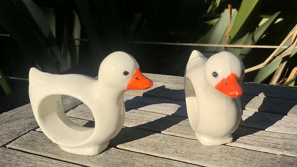 Duck Napkin Rings