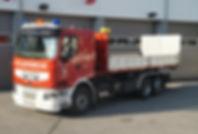 Wechselladefahrzeug mit Abschleppplatfor