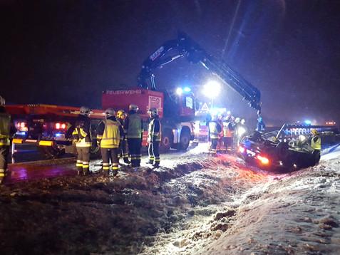 Verkehrsunfall auf der A2