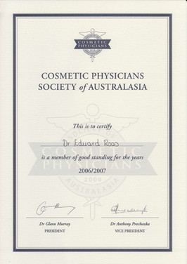 Member of Cosmetic Physicians Society of Australia
