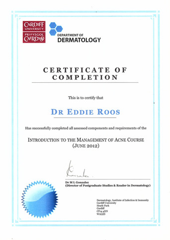 Management of Acne Certified
