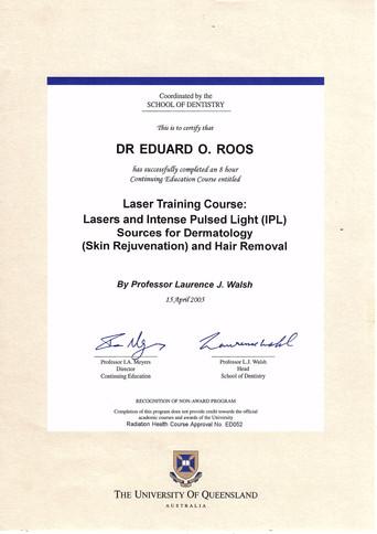 Laser & IPL Certified, Dermatology, Skin Rejuvenation, Hair Removal