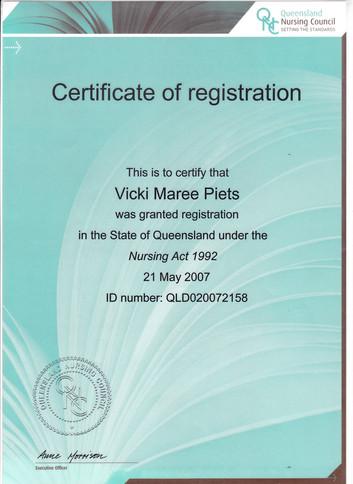 Nursing Registration Certificate