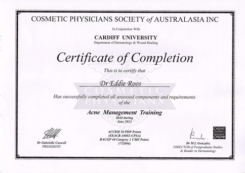 Acne Management Certified