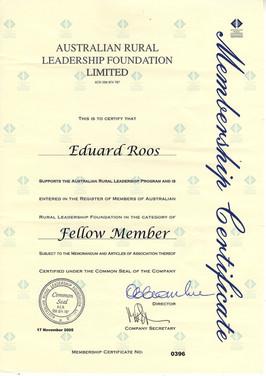 Dr Eddie Roos, Fellow Member