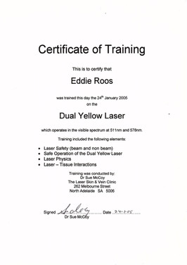 Laser safety & operation certified