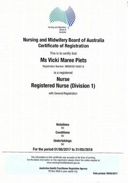 Vicki Piets, Registered Nurse