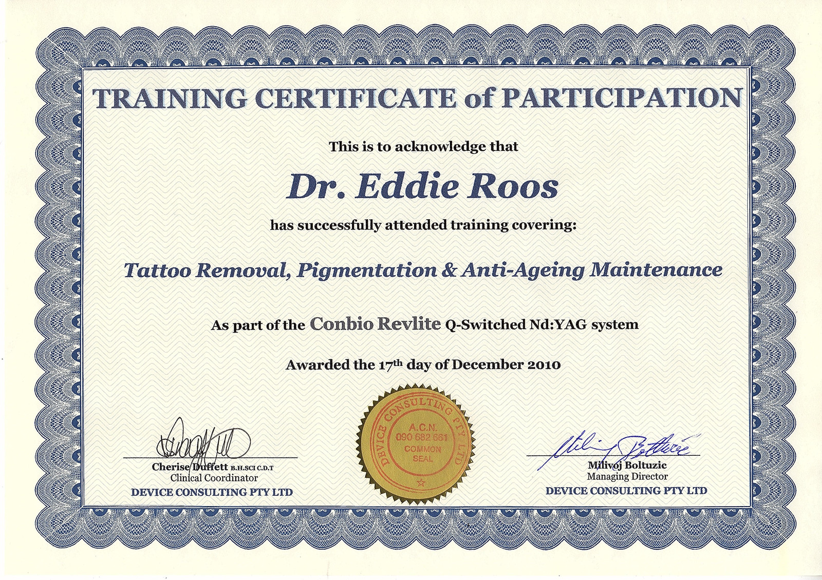 Tattoo Removal Pigmentation And Anti Ageing Certified