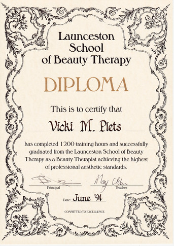 School of Beauty Therapy Diploma