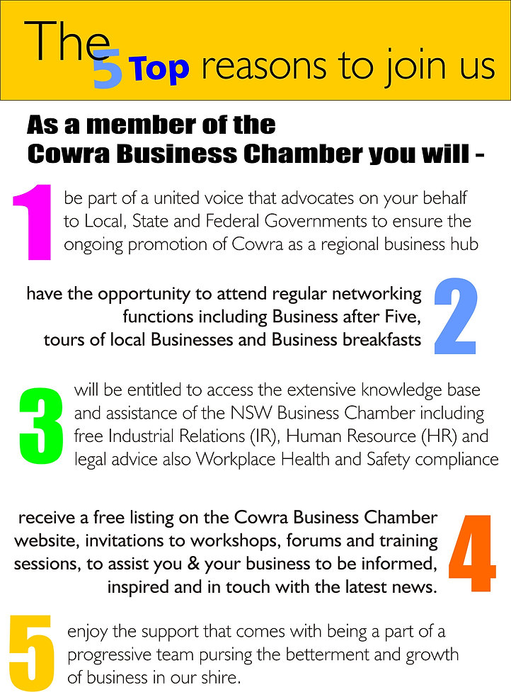 Why Join the Cowra Business Chamber