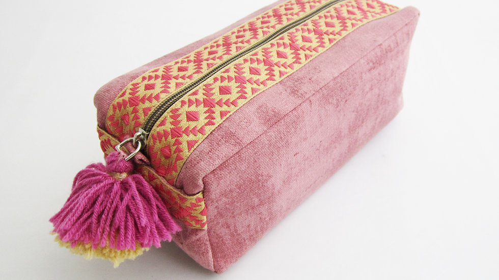 Blush Pink -Boho - Travel/cosmetic kit