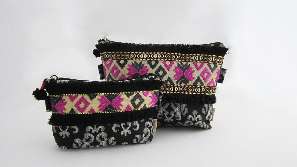 Black Zip pouches - Set of 2