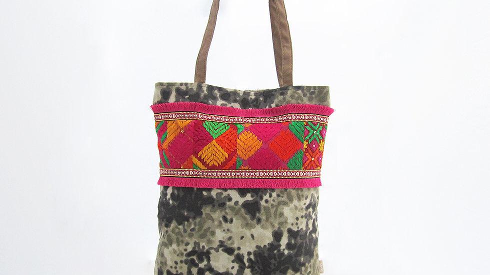 Military Color Cotton Canvas Tote Bag1