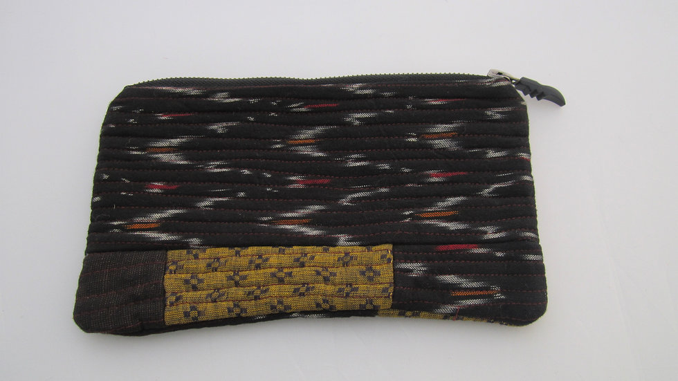 Quilted zip pouch