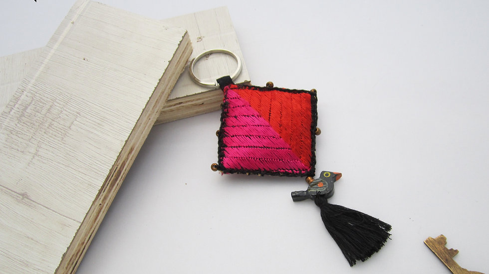 Black and Pink Red Keychain