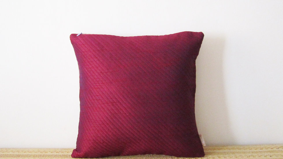 Quilted reversible cushion cover