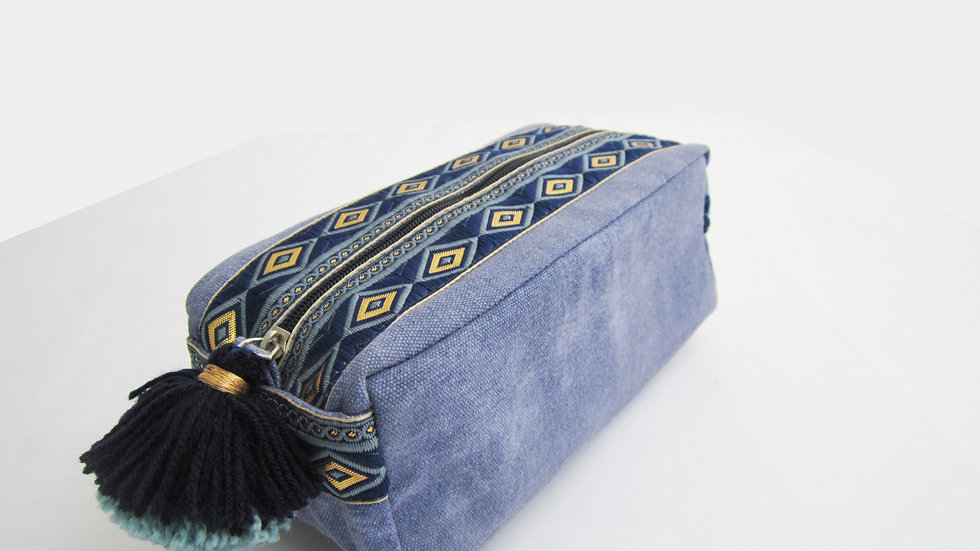 Classic Blue -Boho - Travel/cosmetic kit