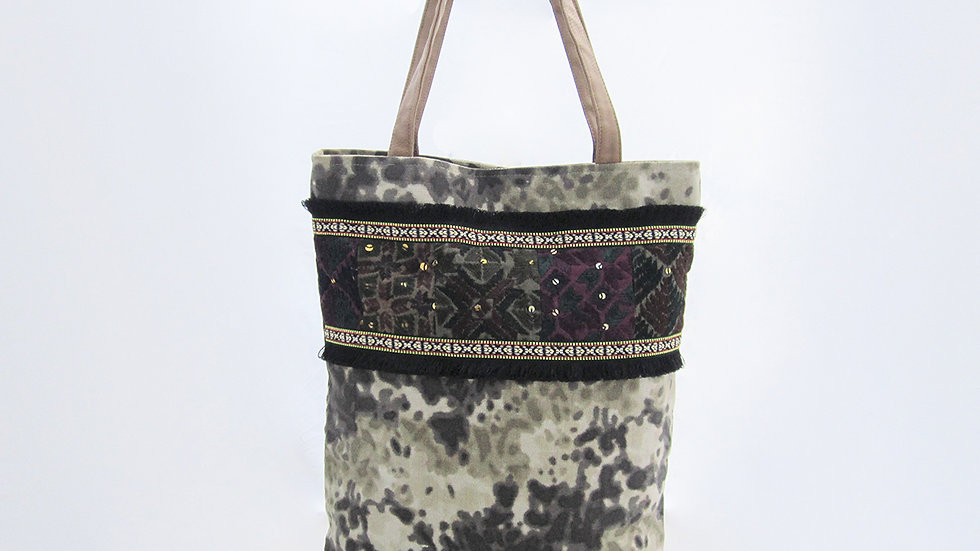 Military Color Cotton Canvas Tote Bag