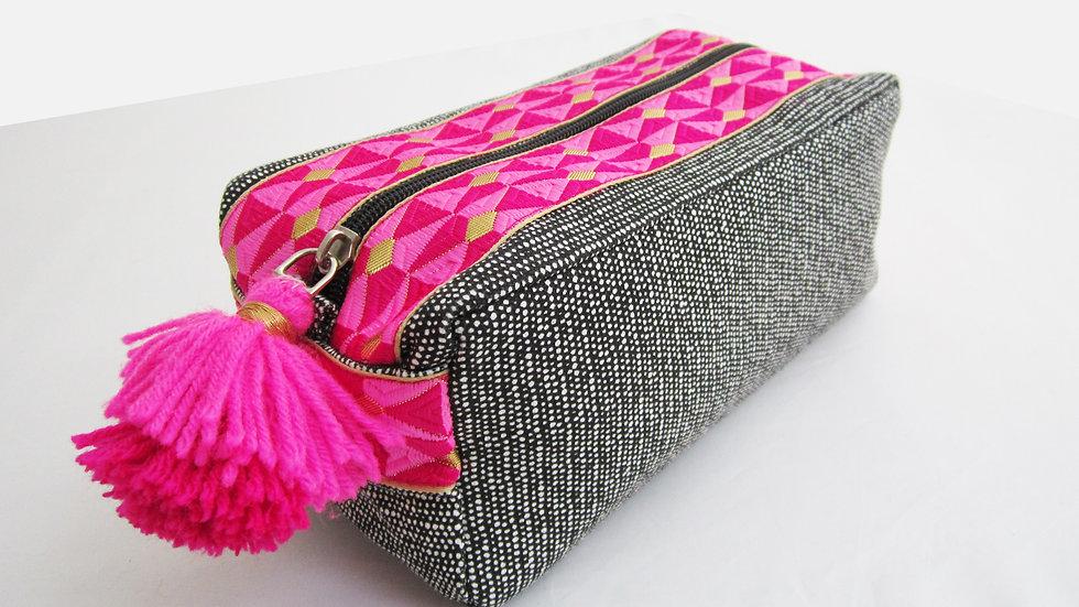 Black -Boho - Travel/cosmetic kit