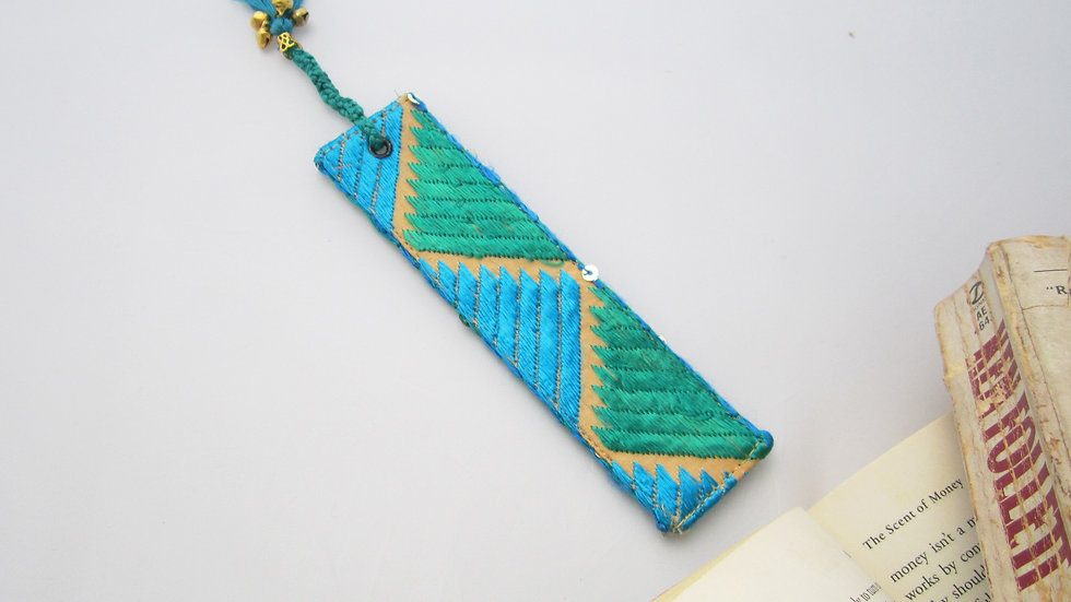 Teal Blue and Green Bookmark