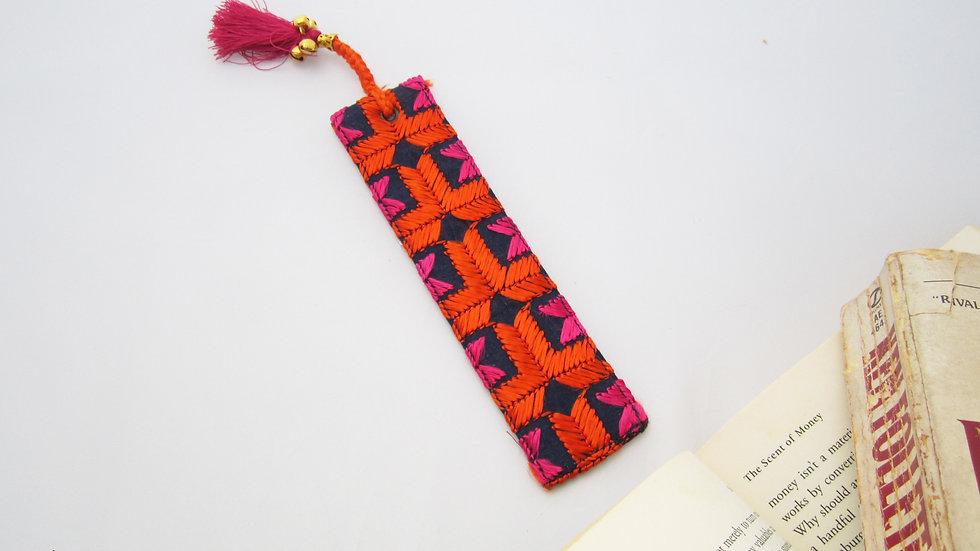 Blue and Orange Bookmark