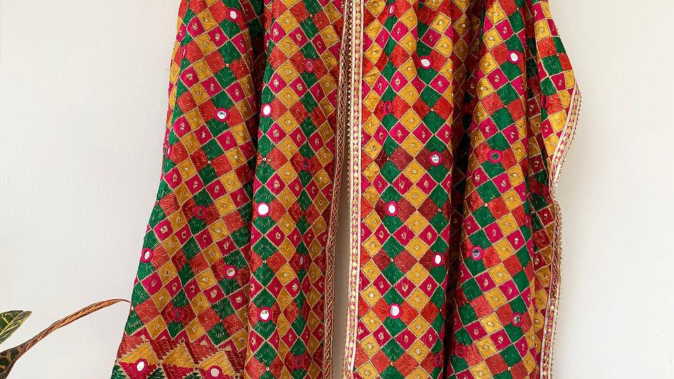 Yellow Multi color Phulkari Bagh